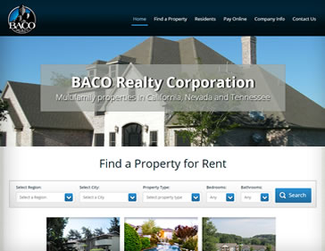 Baco Property Management website