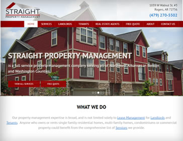 Straight Property Management website