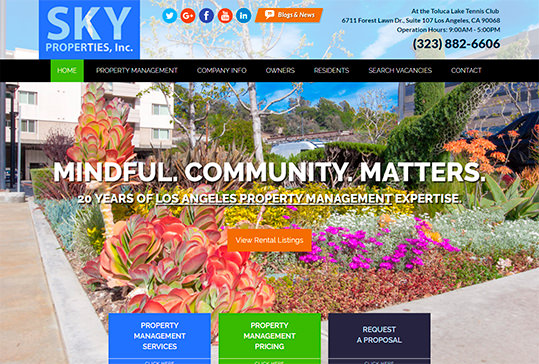 SKY Properties, Inc. Property Management