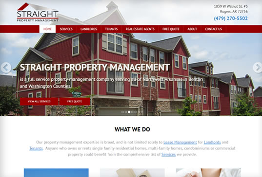 Property Management Website Design Portfolio